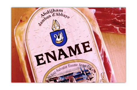 Discover the true taste of Ename Abbey Ham, the one true abbey ham from Saint Salvator's abbey in Ename.
