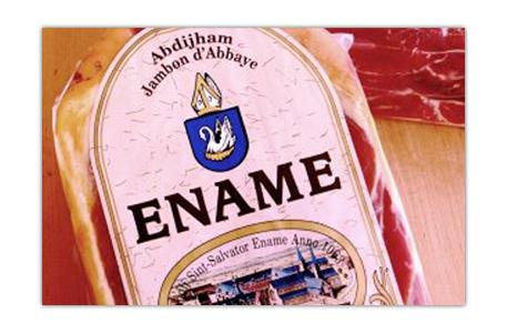 Le jambon de l'abbaye d'Ename ®, le seul jambon véritable de l'abbaye Saint-Sauveur!